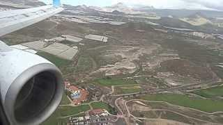 Посадка в Аэропорту острова Тенерифе ( Канарские острова) HD / Landing at Tenerife HD