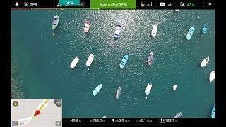 Full Phantom 4 Flight with OSD & comments: Fishing Boats and Beach of San Andrés, Tenerif