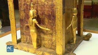 Golden pieces of Egypt's King Tut displayed for first time in Cairo